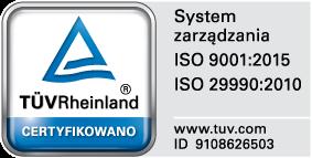 Certyfikat ISO 9001, 14001, 29990, SA 8000