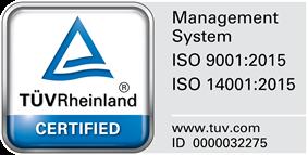ISO 9001:2015 / ISO 14001:2015